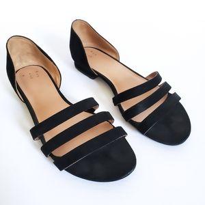 3/$30 Vienna Black Open Toe Slide Sandal Slides